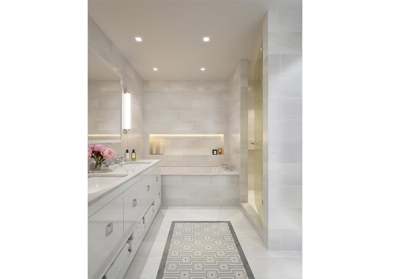 Apartment Master Bathroom apartment design - 210 west 77th